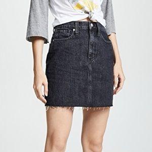 Madewell Vintage Black Denim Miniskirt